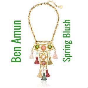NWT Ben Amun Spring Blush Silk Tassel Necklace